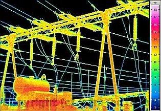 Villamos berendezések termográfiája - Alállomás vizsgálata (forrás: Infratec)