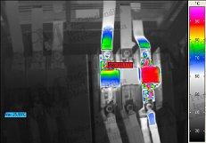 Villamos berendezések termográfiája - Laza kontaktus (forrás: PIM)