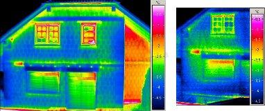 Példák épület-termográfiai mérési körülmények szabályaira - Hőkamera pixelfelbontás jelentősége (forrás: Infratec)
