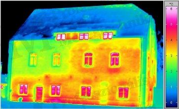Épület-termográfia gyakorlati tanácsok a mérésekhez - Fűtés hiányának hatása (forrás: Infratec)