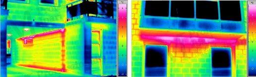 Épület-termográfia gyakorlati tanácsok a mérésekhez - Hőhidak kimutatása (forrás: Infratec)