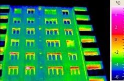 Példák épület-termográfiai mérési körülmények szabályaira - Emissziótényező látószög-függése (forrás: PIM)