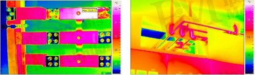 Villamos berendezések termográfiája elmélet-gyakorlat - Reflexió villamos berendezéseken (forrás: PIM)