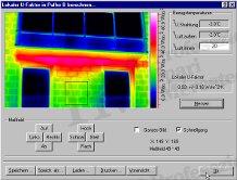 Épület-termográfia mérések elmélete, kiértékelő szoftverek - U-tényező meghatározása (forrás: Infratec)