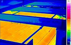 2011/10: középhullámú termográfiai mérések - Üvegkemence tűzálló falazás bevizsgálása (forrás: PIM)