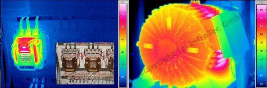 Transzformátor ill. villanymotor mérése (forrás: Infratec)