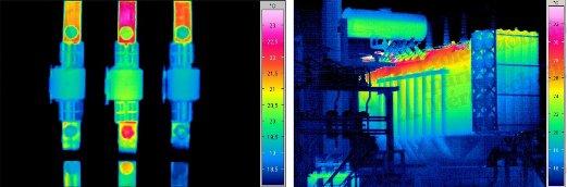 Ipari biztosítékok ill. ipari transzformátor felmérése (forrás: Infratec)