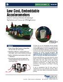 PCB beépíthető (OEM) rezgésérzékelők