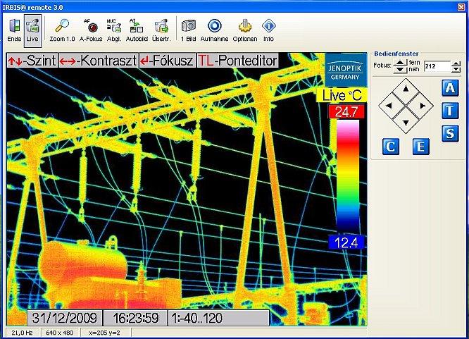 Infratec IRBIS 3 remote hőkamera-távvezérlő