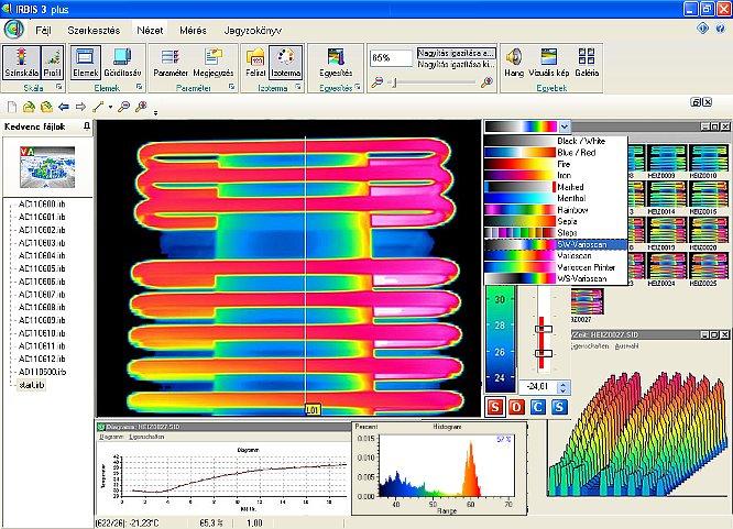 InfraTec IRBIS 3.1 plus hőképkiértékelő