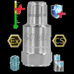 PCB 628F01 ipari gyorsulásérzékelő, PCB HT628F01 hőálló rezgésérzékelő